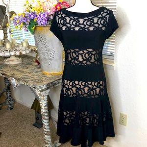Lyman By Frank Lyman black guipure lace dress